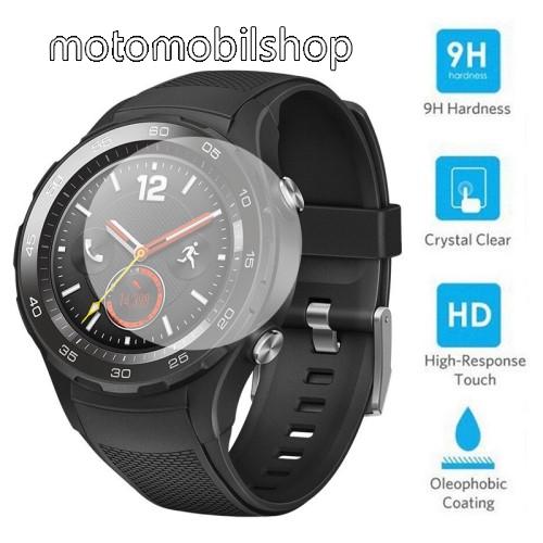 Előlap védő karcálló edzett üveg - 0,2 mm vékony, 9H, 2.5D, Arc Edge - HUAWEI Watch 2 / HUAWEI Watch 2 Pro