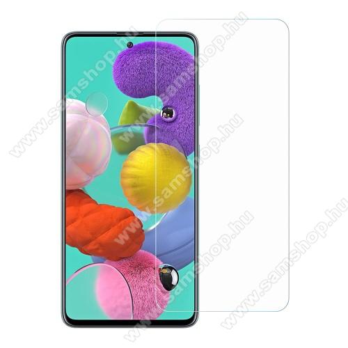 SAMSUNG Galaxy A51 (SM-A515F)Előlap védő karcálló edzett üveg - 0,33 mm vékony, 9H, Arc Edge, A képernyő sík részét védi - SAMSUNG Galaxy A51 (SM-A515F) / SAMSUNG Galaxy A51 5G (SM-A516F)