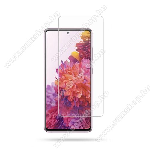 SAMSUNG Galaxy S20 FE 5G (SM-G781B)Előlap védő karcálló edzett üveg - 0,33 mm vékony, 9H, Arc Edge, A képernyő sík részét védi - SAMSUNG Galaxy S20 FE 5G (SM-G781B) / SAMSUNG Galaxy S20 FE 4G (SM-G780F)