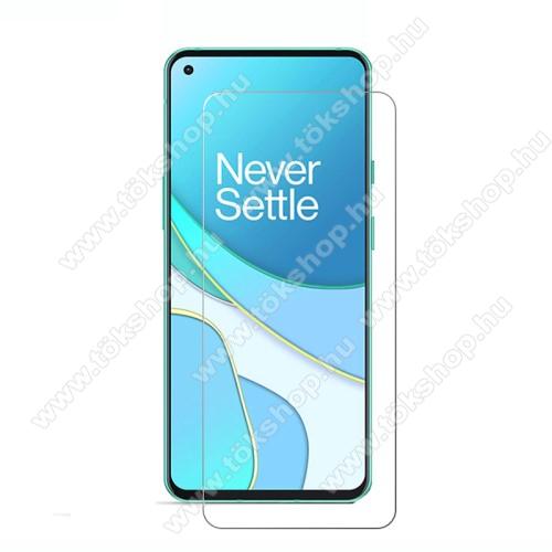 OnePlus 8T (KB2001)Előlap védő karcálló edzett üveg - 0,33 mm vékony, 9H, Arc Edge, A képernyő sík részét védi - OnePlus 8T / 8T Plus 5G