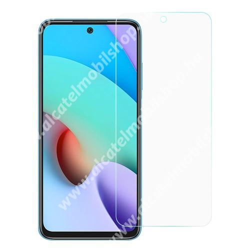 Előlap védő karcálló edzett üveg - 0,33 mm vékony, 9H, Arc Edge, A képernyő sík részét védi - Xiaomi Redmi 10 / Redmi 10 Prime