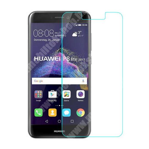 HUAWEI P9 Lite (2017) Előlap védő karcálló edzett üveg - 0,33 mm vékony, 9H, Arc Edge, A képernyő sík részét védi - HUAWEI P8 Lite (2017) / HUAWEI P9 Lite (2017)  / HUAWEI Honor 8 Lite