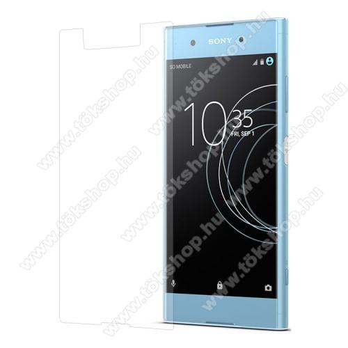 Előlap védő karcálló edzett üveg - 0,3 mm vékony, 9H, Arc Edge, A képernyő sík részét védi - Sony Xperia XA1 Plus