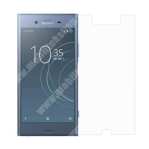 Előlap védő karcálló edzett üveg - 0,3 mm vékony, 9H, Arc Edge - Sony Xperia XZ1