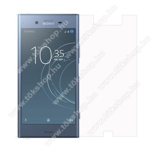 Előlap védő karcálló edzett üveg - 0,3 mm vékony, 9H, Arc Edge, A képernyő sík részét védi - Sony Xperia XZ1