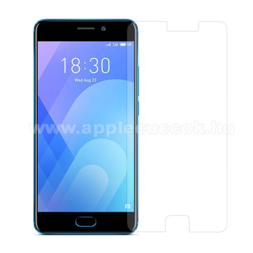 Előlap védő karcálló edzett üveg - 0,3 mm vékony, 9H, Arc Edge, A képernyő sík részét védi - Meizu M6 Note