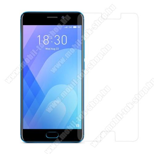 Előlap védő karcálló edzett üveg - 0,3 mm vékony, 9H, Arc Edge - Meizu M6 Note