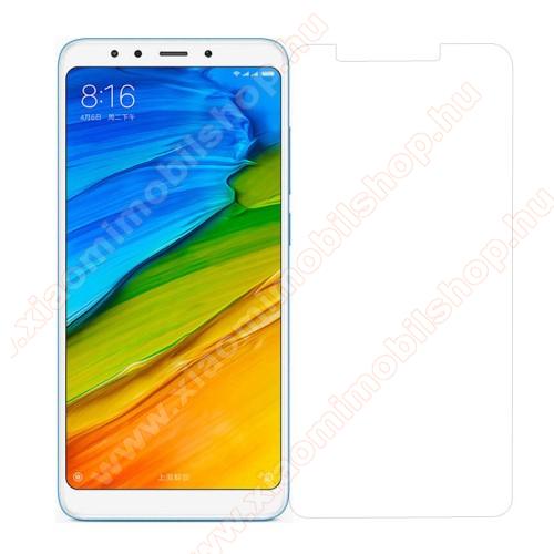 Előlap védő karcálló edzett üveg - 0,3 mm vékony, 9H, Arc Edge, A képernyő sík részét védi - XIAOMI Redmi Note 5 / XIAOMI Redmi 5 Plus