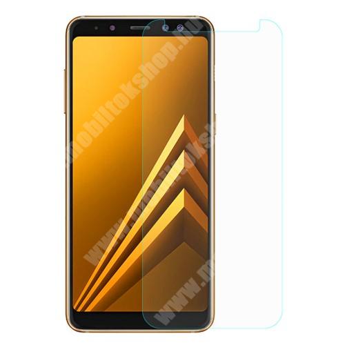 SAMSUNG SM-A530F Galaxy A8 (2018)  Előlap védő karcálló edzett üveg - 0,3 mm vékony, 9H, Arc Edge, A képernyő sík részét védi - SAMSUNG Galaxy A8 (2018)
