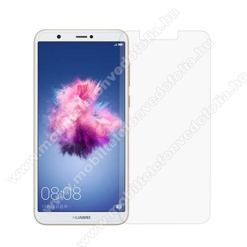 Előlap védő karcálló edzett üveg - 0,3 mm vékony, 9H, Arc Edge, A képernyő sík részét védi - HUAWEI P Smart / HUAWEI Enjoy 7S