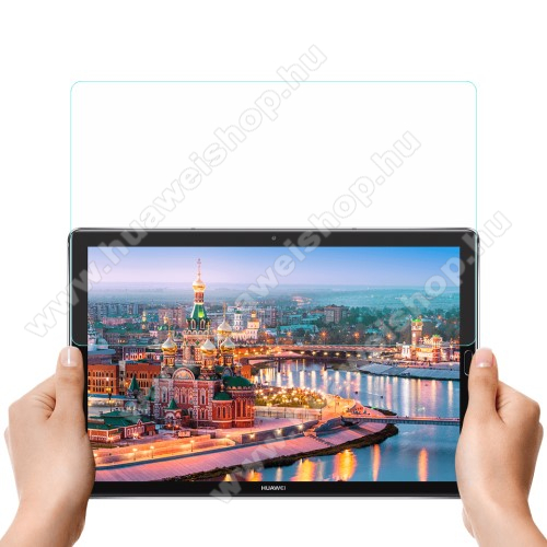 Huawei MediaPad M5 10 Pro (2018)Előlap védő karcálló edzett üveg - 0,3 mm vékony, 9H, Arc Edge, A képernyő sík részét védi - HUAWEI MediaPad M5 10 (2018) / HUAWEI MediaPad M5 10 Pro (2018)