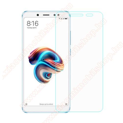 Előlap védő karcálló edzett üveg - 0,3 mm vékony, 9H, Arc Edge, A képernyő sík részét védi - Xiaomi Redmi Note 5 Pro (Global version) / Xiaomi Redmi Note 5 (Global version)