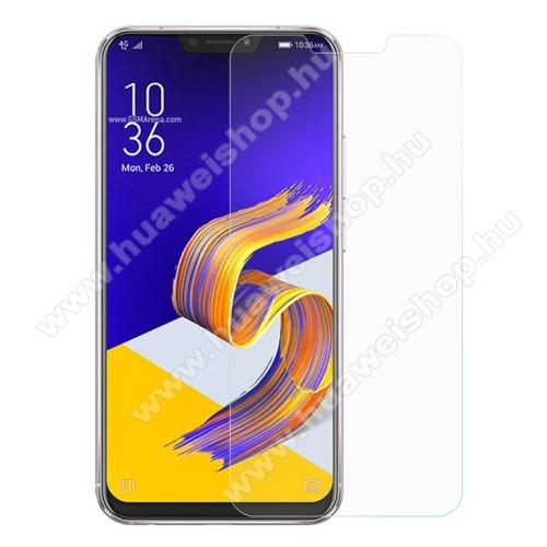 Előlap védő karcálló edzett üveg - 0,3 mm vékony, 9H, Arc Edge, A képernyő sík részét védi - ASUS Zenfone 5 (ZE620KL) (2018)