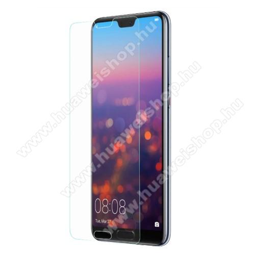 Huawei P20 (2018)Előlap védő karcálló edzett üveg - 0,3 mm vékony, 9H, Arc Edge, A képernyő sík részét védi - HUAWEI P20 (2018)
