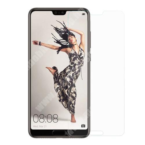 Huawei P20 Pro (2018) Előlap védő karcálló edzett üveg - 0,3 mm vékony, 9H, Arc Edge, A képernyő sík részét védi - HUAWEI P20 Pro (2018)