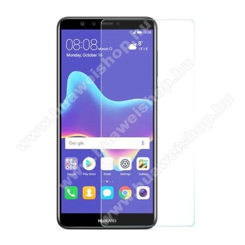 HUAWEI Y9 (2018)Előlap védő karcálló edzett üveg - 0,3 mm vékony, 9H, Arc Edge - HUAWEI Y9 (2018) / HUAWEI Enjoy 8 Plus