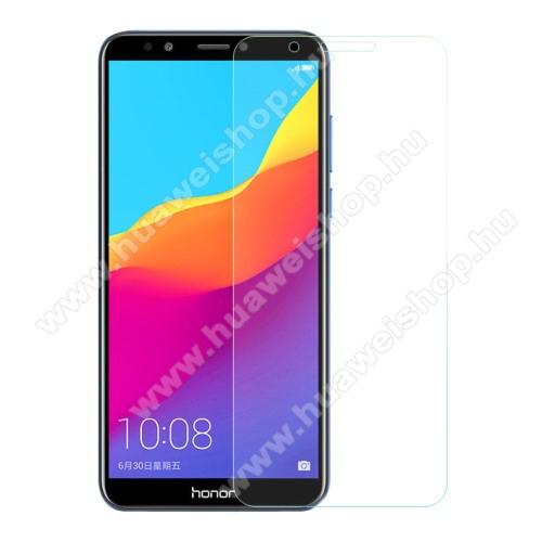 Előlap védő karcálló edzett üveg - 0,3 mm vékony, 9H, Arc Edge - HUAWEI Honor 7C (2018) / HUAWEI Enjoy 8 (2018) / HUAWEI Y7 Prime (2018)