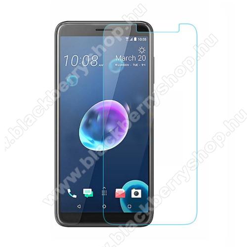 Előlap védő karcálló edzett üveg - 0,3 mm vékony, 9H, Arc Edge - HTC Desire 12+