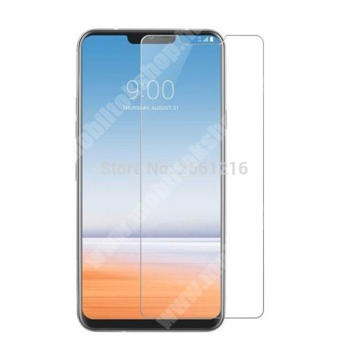 LG G7 ThinQ Előlap védő karcálló edzett üveg - 0,3 mm vékony, 9H, Arc Edge - LG G7 ThinQ