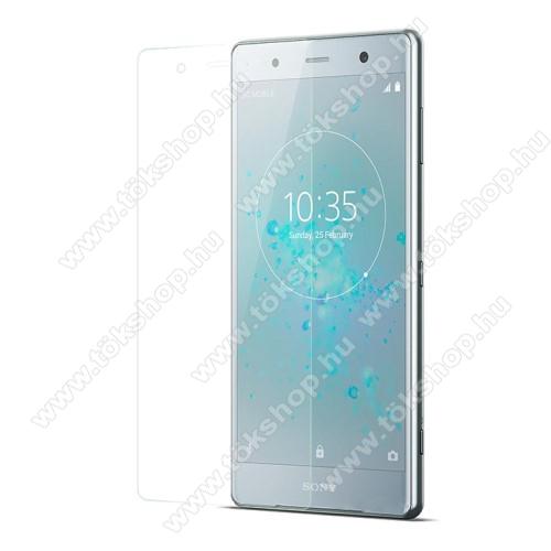 Előlap védő karcálló edzett üveg - 0,3 mm vékony, 9H, Arc Edge, A képernyő sík részét védi - SONY Xperia XZ2 Premium (2018)