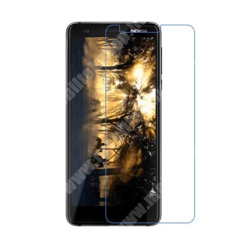 NOKIA 3.1 Előlap védő karcálló edzett üveg - 0,3 mm vékony, 9H, Arc Edge, A képernyő sík részét védi - NOKIA 3.1