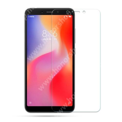 Előlap védő karcálló edzett üveg - 0,3 mm vékony, 9H, Arc Edge - Xiaomi Redmi 6 / Xiaomi Redmi 6A