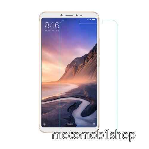 Előlap védő karcálló edzett üveg - 0,3 mm vékony, 9H, Arc Edge, A képernyő sík részét védi - Xiaomi Mi Max 3