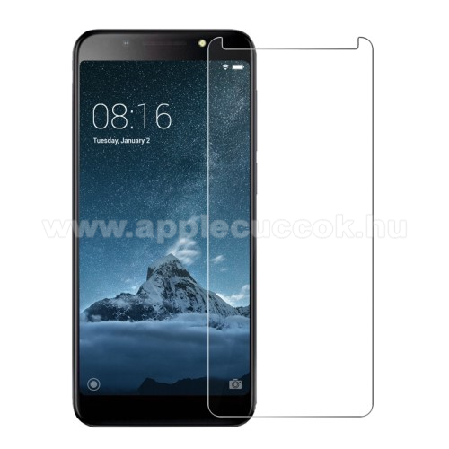 Előlap védő karcálló edzett üveg - 0,3 mm vékony, 9H, Arc Edge, A képernyő sík részét védi - Vodafone Smart N9 lite