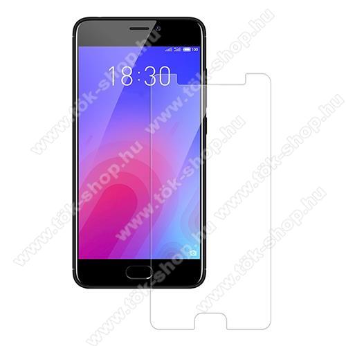 Előlap védő karcálló edzett üveg - 0,3 mm vékony, 9H, Arc Edge, A képernyő sík részét védi - Meizu M6