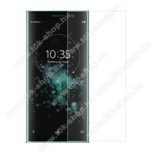 Előlap védő karcálló edzett üveg - 0,3 mm vékony, 9H, Arc Edge, A képernyő sík részét védi - SONY Xperia XA2 Plus