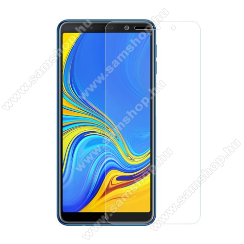 SAMSUNG Galaxy A7 (2018) (SM-A750F/SM-A750G)Előlap védő karcálló edzett üveg - 0,3 mm vékony, 9H, Arc Edge, A képernyő sík részét védi - SAMSUNG SM-A750F Galaxy A7 (2018)