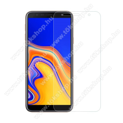 Előlap védő karcálló edzett üveg - 0,3 mm vékony, 9H, Arc Edge, A képernyő sík részét védi - SAMSUNG SM-J415F Galaxy J4+ / SAMSUNG SM-J610F Galaxy J6+