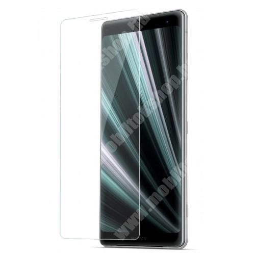 Sony Xperia XZ3 Előlap védő karcálló edzett üveg - 0,3 mm vékony, 9H, Arc Edge - Sony Xperia XZ3