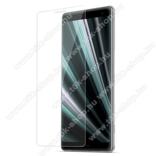 Előlap védő karcálló edzett üveg - 0,3 mm vékony, 9H, Arc Edge, A képernyő sík részét védi - Sony Xperia XZ3