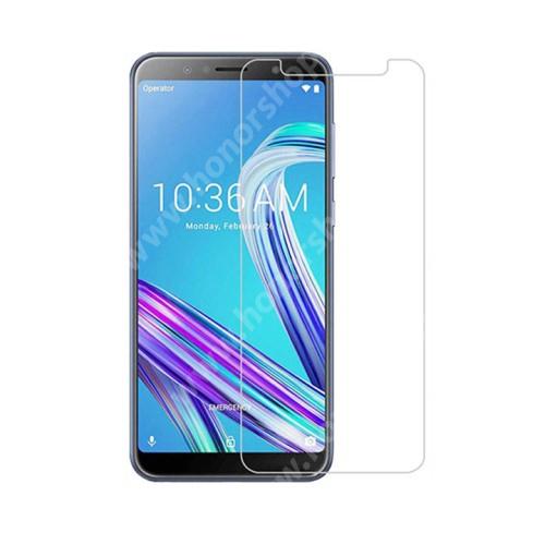 Előlap védő karcálló edzett üveg - 0,3 mm vékony, 9H, Arc Edge, A képernyő sík részét védi - ASUS Zenfone Max Pro (M1) (ZB602KL) / ASUS Zenfone Max Pro (M1) (ZB601KL)