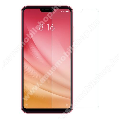 Előlap védő karcálló edzett üveg - 0,3 mm vékony, 9H, Arc Edge, A képernyő sík részét védi - Xiaomi Mi 8 Lite / Xiaomi Mi 8 Youth (Mi 8X)