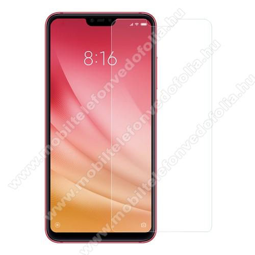 Előlap védő karcálló edzett üveg - 0,3 mm vékony, 9H, Arc Edge - Xiaomi Mi 8 Lite / Xiaomi Mi 8 Youth (Mi 8X)