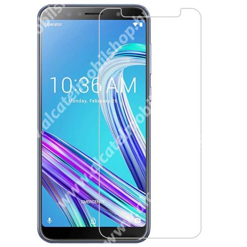 Előlap védő karcálló edzett üveg - 0,3 mm vékony, 9H, Arc Edge, A képernyő sík részét védi - ASUS Zenfone Max Pro (M1) (ZB601KL)