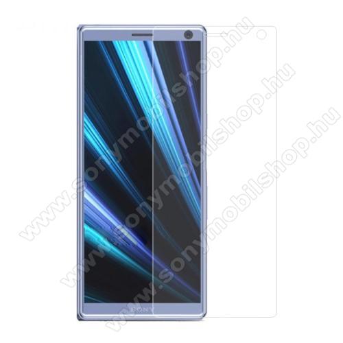 Előlap védő karcálló edzett üveg - 0,3 mm vékony, 9H, Arc Edge - SONY Xperia XA3 Ultra