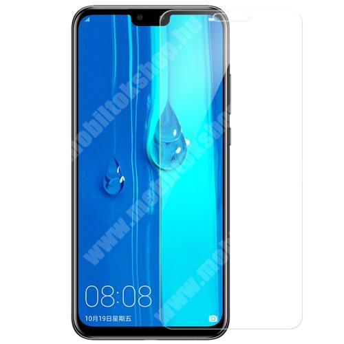 HUAWEI Y9 (2019) Előlap védő karcálló edzett üveg - 0,3 mm vékony, 9H, Arc Edge, A képernyő sík részét védi - HUAWEI Y9 (2019) / HUAWEI Enjoy 9 Plus