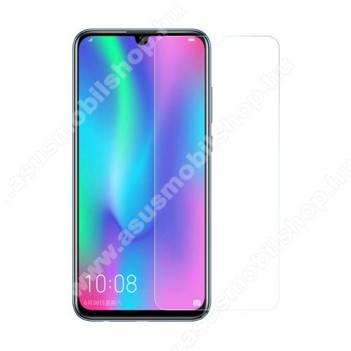 Előlap védő karcálló edzett üveg - 0,3 mm vékony, 9H, Arc Edge, A képernyő sík részét védi - HUAWEI P Smart (2019) / HUAWEI Honor 10 Lite