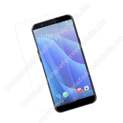 Előlap védő karcálló edzett üveg - 0,3 mm vékony, 9H, Arc Edge - HTC Desire 12s