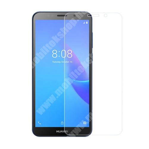 HUAWEI Y5 Lite (2018) Előlap védő karcálló edzett üveg - 0,3 mm vékony, 9H, Arc Edge, A képernyő sík részét védi - HUAWEI Y5 Lite (2018)