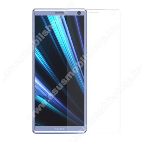 Előlap védő karcálló edzett üveg - 0,3 mm vékony, 9H, Arc Edge, A képernyő sík részét védi - SONY Xperia L3