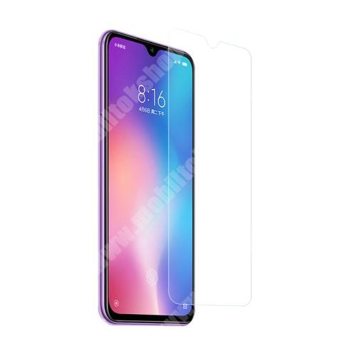 Előlap védő karcálló edzett üveg - 0,3 mm vékony, 9H, Arc Edge, A képernyő sík részét védi - Xiaomi Mi 9 SE