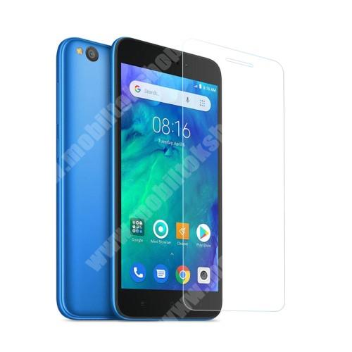 Xiaomi Redmi Go Előlap védő karcálló edzett üveg - 0,3 mm vékony, 9H, Arc Edge, A képernyő sík részét védi - Xiaomi Redmi Go