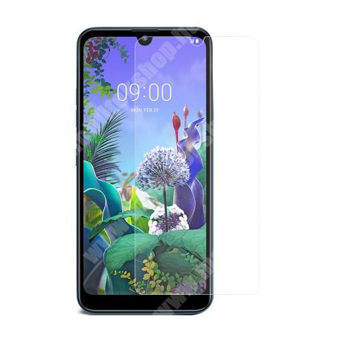 LG Q60 Előlap védő karcálló edzett üveg - 0,3 mm vékony, 9H, Arc Edge, A képernyő sík részét védi - LG Q60