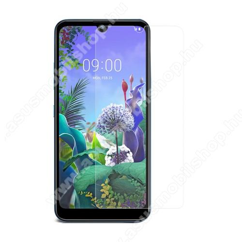 Előlap védő karcálló edzett üveg - 0,3 mm vékony, 9H, Arc Edge, A képernyő sík részét védi - LG Q60 / LG K50