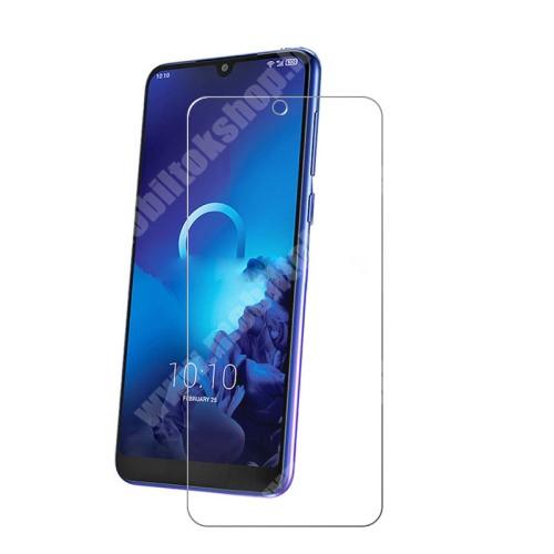 Előlap védő karcálló edzett üveg - 0,3 mm vékony, 9H, Arc Edge - Alcatel 3 (2019)