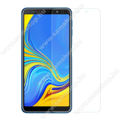SAMSUNG Galaxy A70 (SM-A705F/SM-A705FN)Előlap védő karcálló edzett üveg - 0,3 mm vékony, 9H, Arc Edge, A képernyő sík részét védi - SAMSUNG SM-A705F Galaxy A70